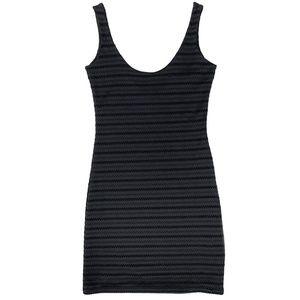 ZARA Black sleeveless bodycon mini dress, size S
